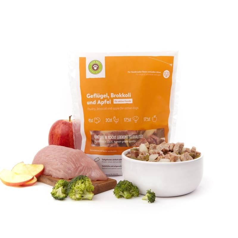 Frische-Menü Geflügel mit Brokkoli & Apfel für Hunde_1