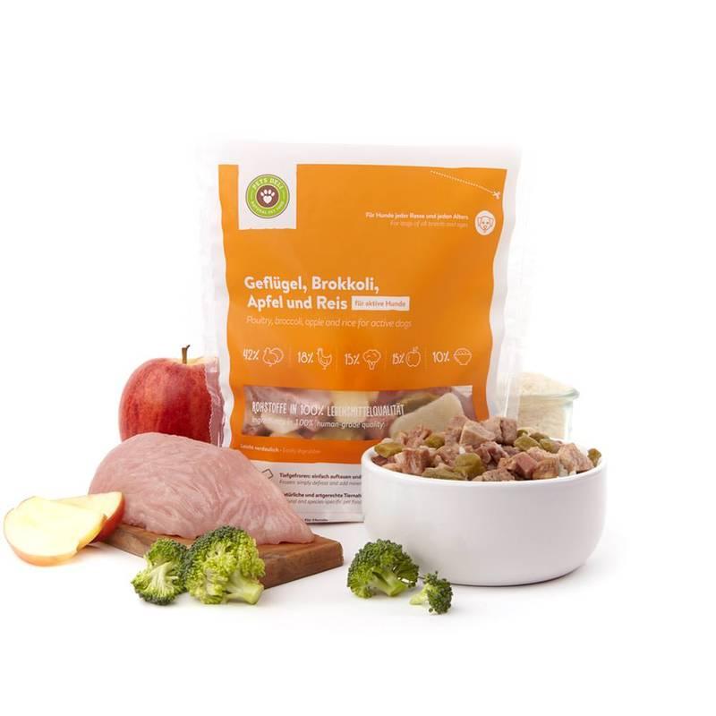 Frische-Menü Geflügel mit Brokkoli & Apfel für Hunde_2