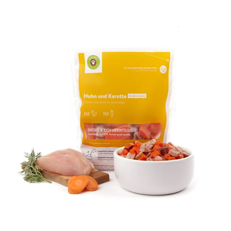 Frische-Menü Huhn mit Karotte für Hunde_1
