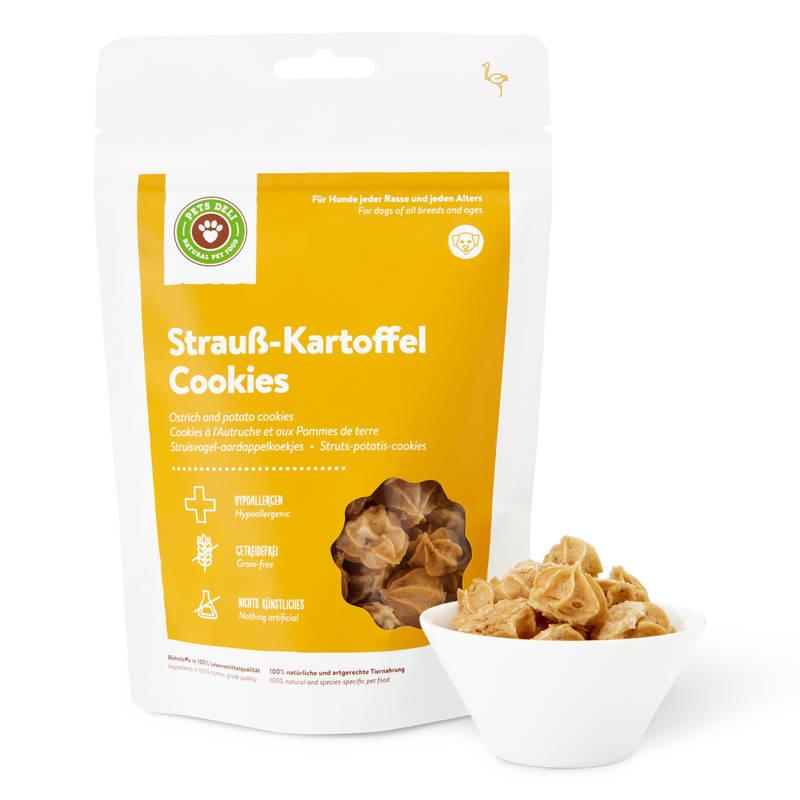 Strauß-Kartoffel Cookies für Hunde_1