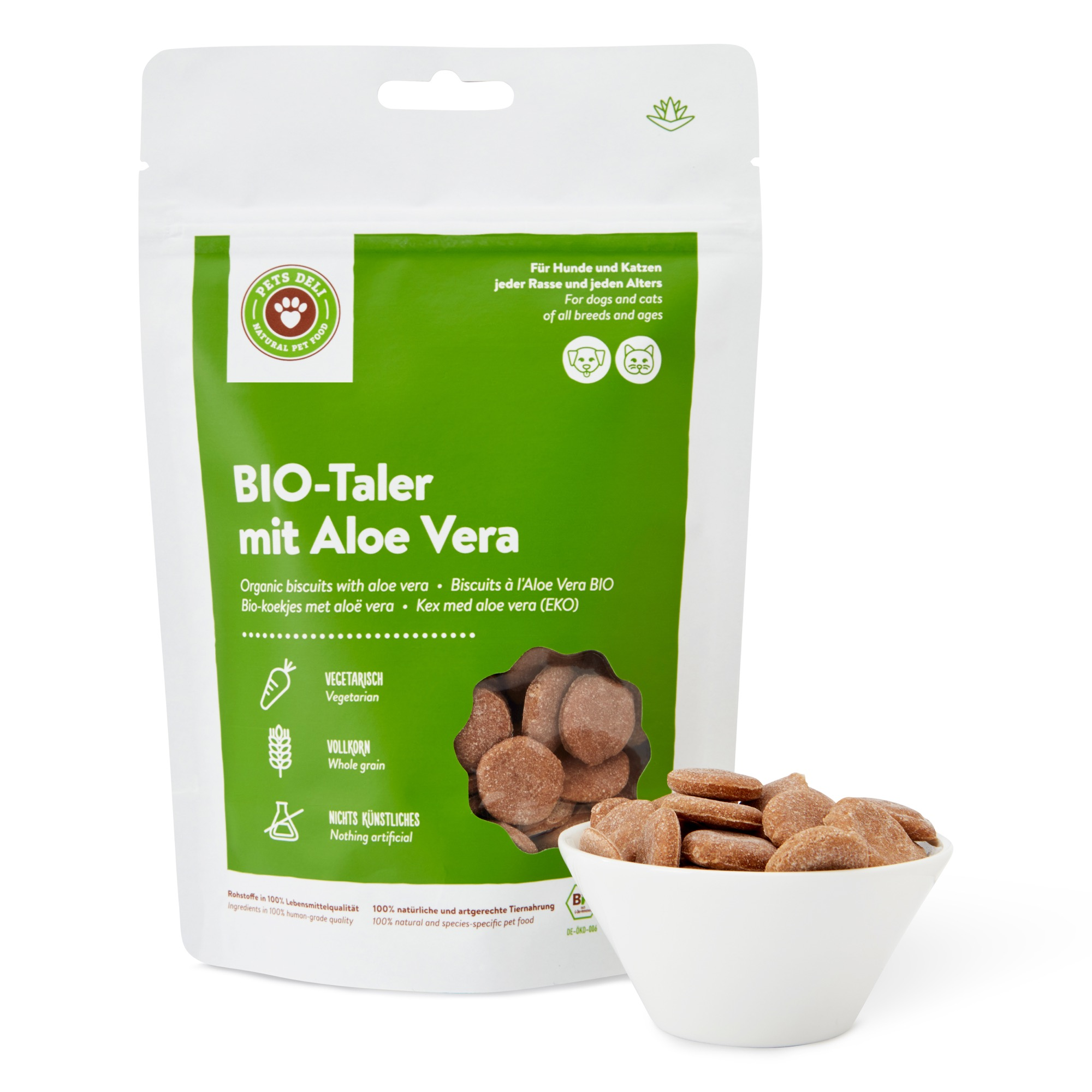 Cookies BIO-Aloe-Vera-Taler für Katzen 100g