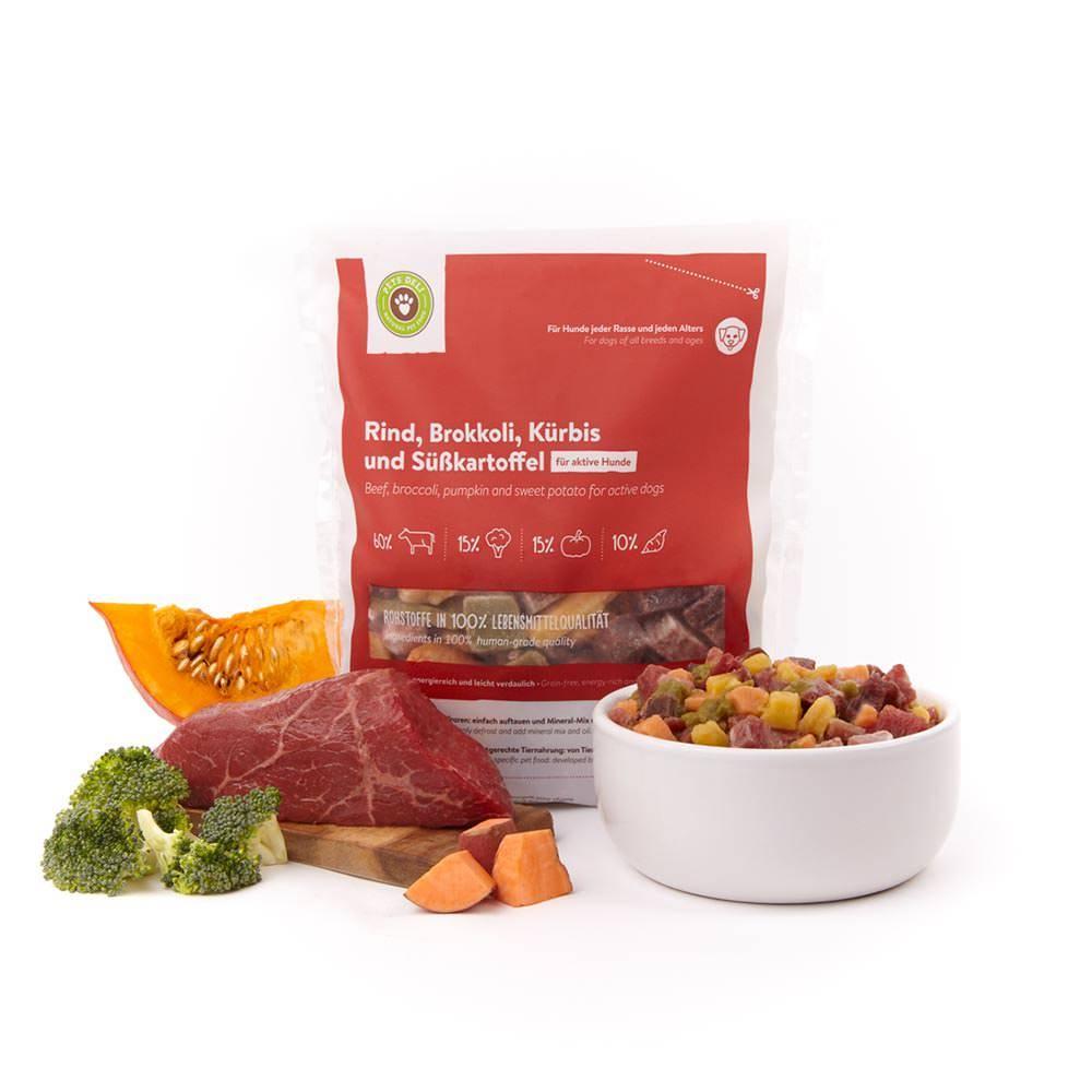 Frische-Menü Rind mit Brokkoli & Kürbis für Hunde_1