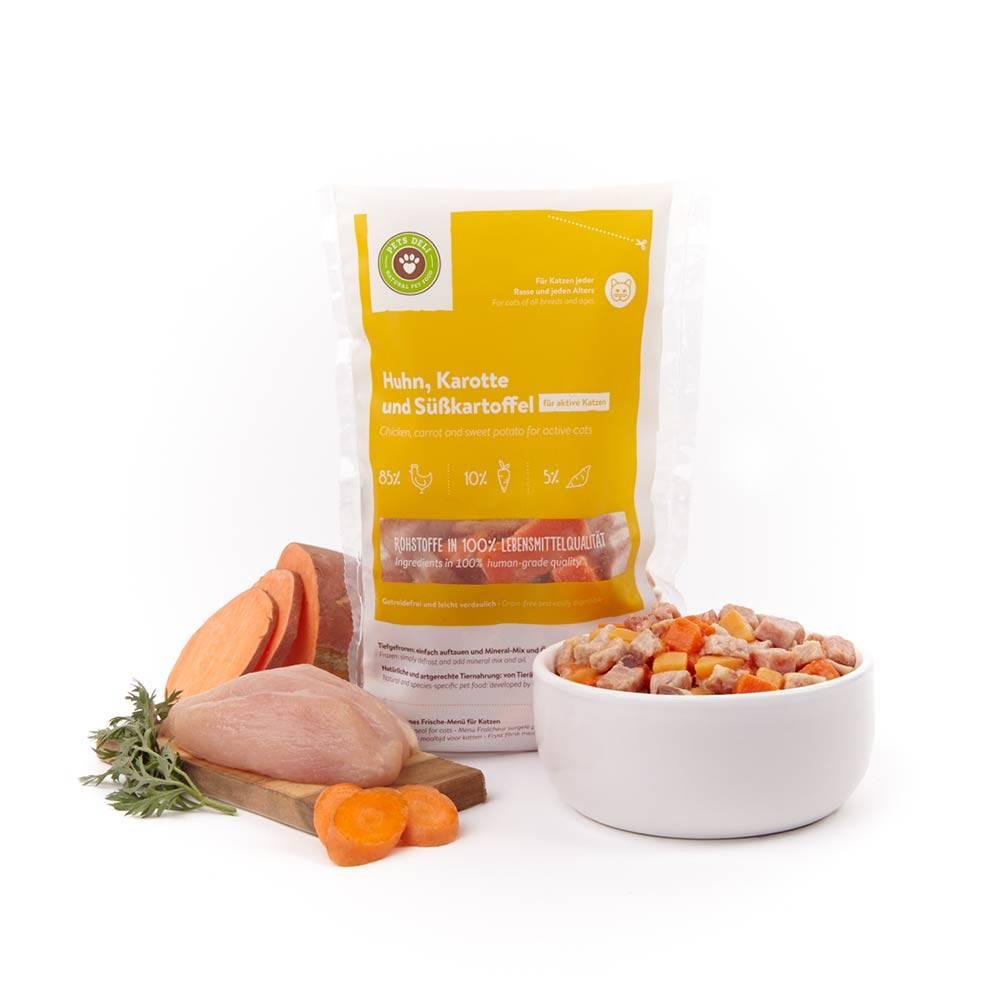 Frische-Menü Huhn mit Karotte für Katzen_1
