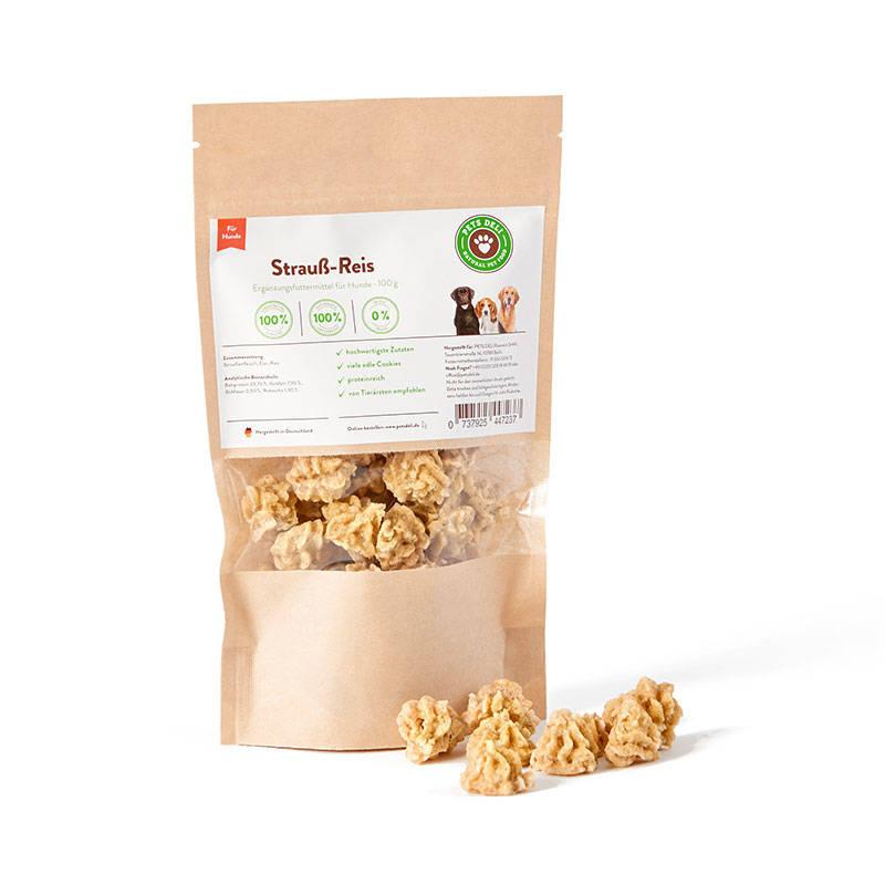 Strauß-Reis Cookies für Hunde_1